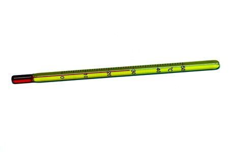 Glass mercury thermometer i photo