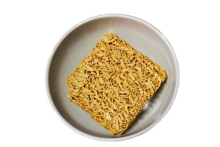 Instant noodles. Texture. Close up. photo