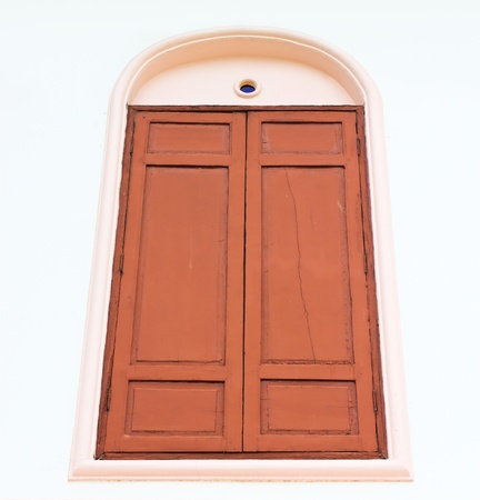Wood windows isolate on white background photo