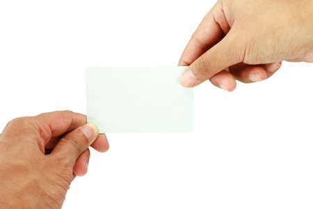 blank business card photo