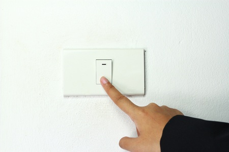 light power switch being turned on off