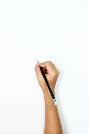 human hands with pencil and writting something Stock Photo - 14608599