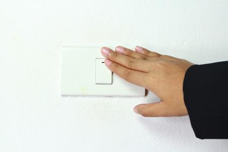 ライト電源スイッチ オフにされています。 写真素材