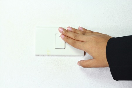 dimmer: light power switch being turned on off