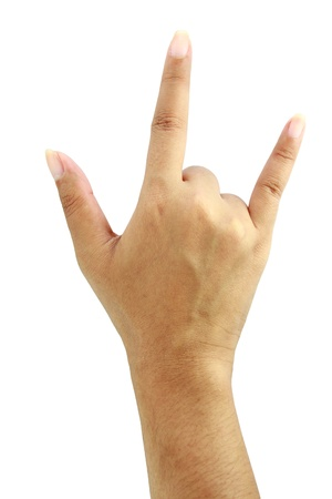 Hand in I love you photo