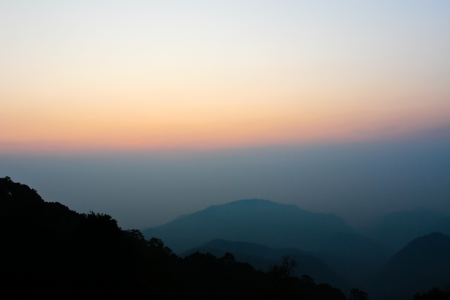 overlook: Wild untouched nature mountains