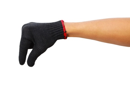 Glove hand of a caucasian male to hold Stock Photo - 14974301