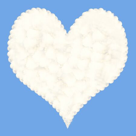 Heart-shaped cloud Stock Photo - 15956763
