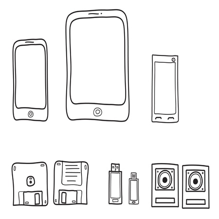 set of electronic devices Stock Vector - 16424864