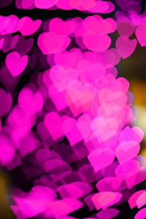 pink  hearts bokeh as background Stock Photo - 17058708