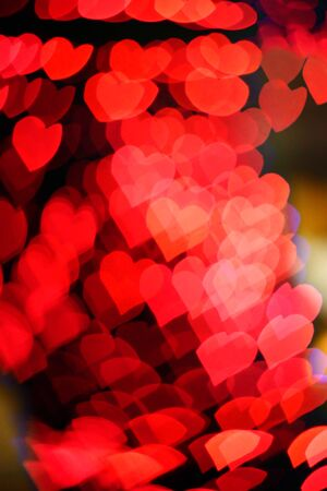 red  hearts bokeh as background Stock Photo - 17058707