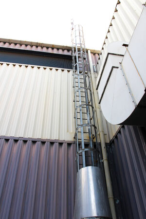 boiler stack with ladder to accessable photo
