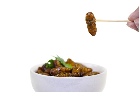 Fried insects.