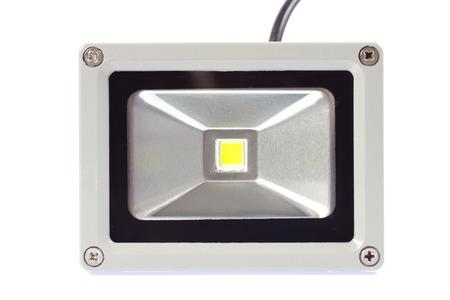 A LED spotlight isolated on white background. photo
