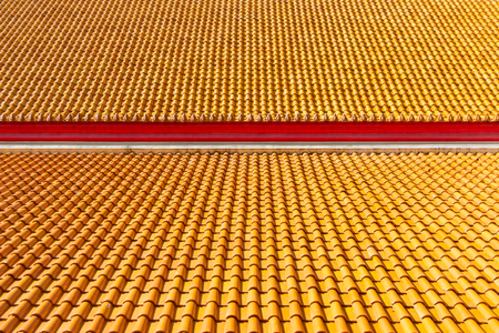 Red tiles roof background photo