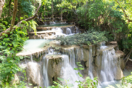 khamin: Huay Mae khamin waterfall Stock Photo