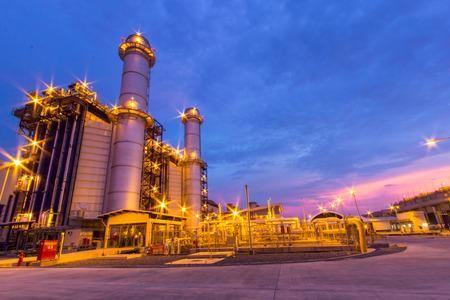 power plant at night 報道画像