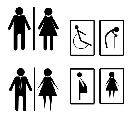 toilette homme: Vector illustration toilette signe Banque d'images