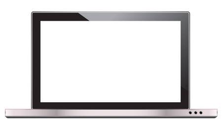 Laptop Isolated on White Background.  photo