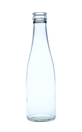 Glass bottle. The materials can be recycled again. photo