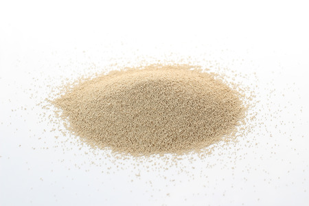 Dry Yeast isolated on white 스톡 콘텐츠
