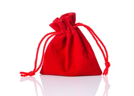 Red bag Isolated on white Stock Photo