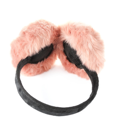 Earmuffs: pink ear-muffs isolated on white