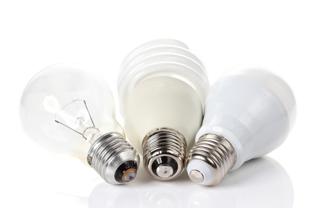three generations: Three generations of light bulbs.
