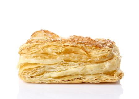Puff pastry isolate on white Stock Photo