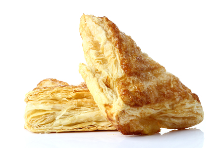 pastry: Puff pastry isolate on white Stock Photo