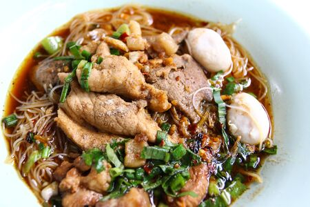 thicken: thai pork noodle thicken soup