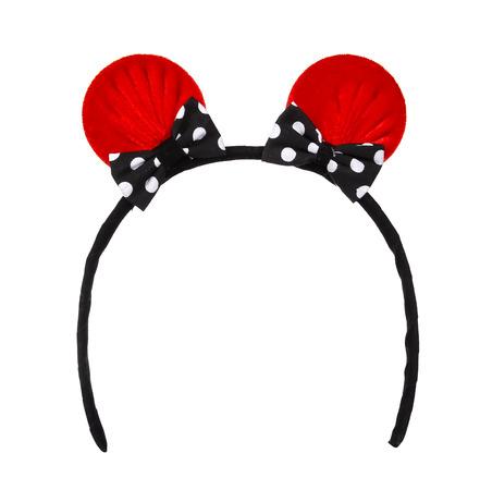 headband: Cat ears headband isolate on white Stock Photo