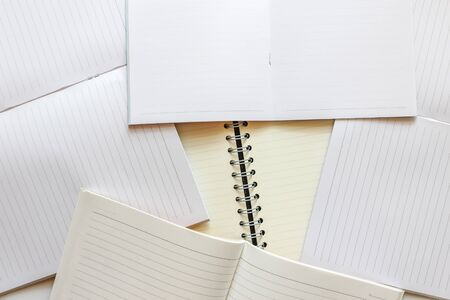 magazine stack: Stack of blank books template. on white background Stock Photo