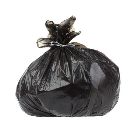 garbage bag on white background