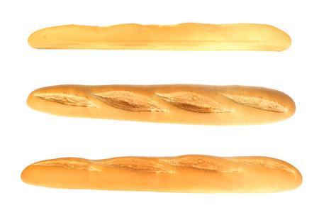baguet: French baguette isolated on white Stock Photo
