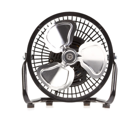 portable: portable fan on white background