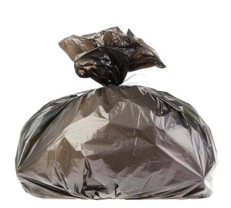 garbage bag: garbage bag on white background