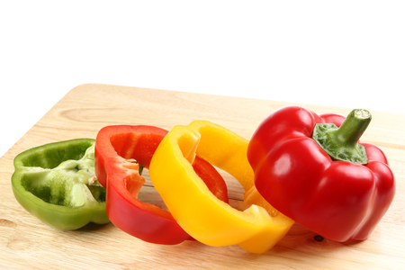 bell pepper (capsicum) on white background Stock Photo