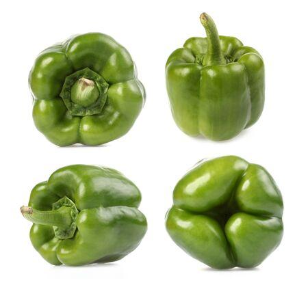 capsicum: bell pepper (capsicum) on white background Stock Photo