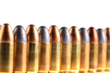 full jacket bullet: cartridge isolate on white Stock Photo