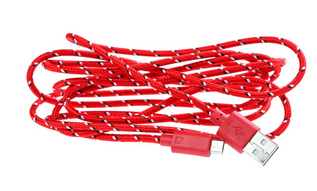 micro: micro usb cable isolate on white