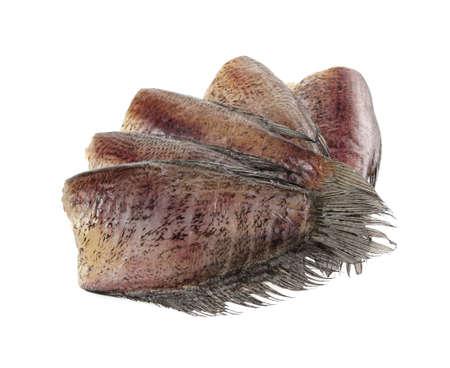 pectoralis: Snake Skin Gourami Fish, Pla Salit (Trichogaster pectoralis) desiccated isolated