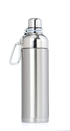 thermos: Thermos flask isolated on white