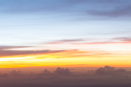 stratosphere: Sunset sky stratosphere background.