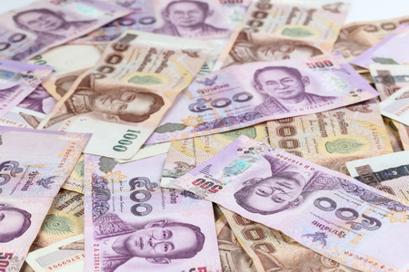 Thailand currency  background.