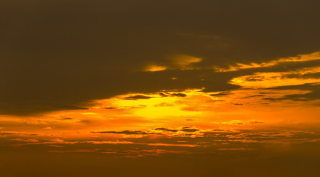 Sunset  with clouds  background 写真素材