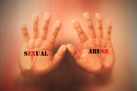 concept sexual abuse,hand man stop
