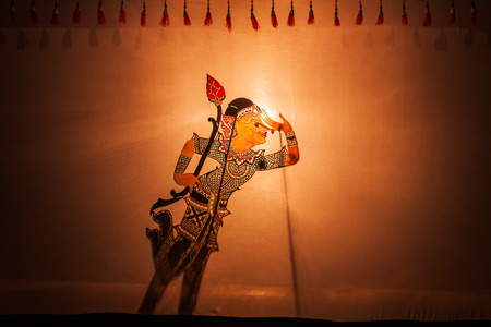 puppet show: Traditional south of Thailand Shadow Puppet Show,Nakhon Si Thammarat Thailand