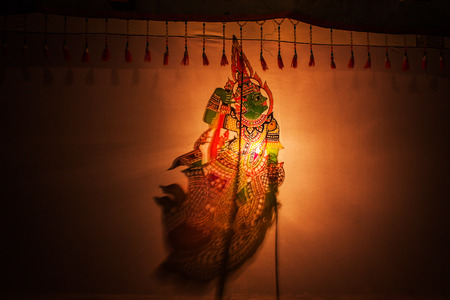 shadow puppet: Traditional south of Thailand Shadow Puppet Show,Nakhon Si Thammarat Thailand
