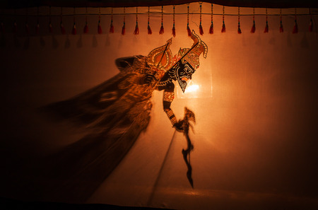 kulit: Traditional south of Thailand Shadow Puppet Show,Nakhon Si Thammarat Thailand